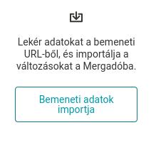 Tlačítko Import vstupních dat na stránce Přegenerování.